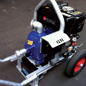 diesel aangedreven Gorman Rupp pomp