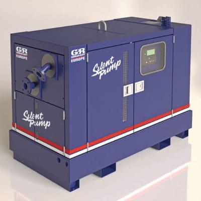 Gorman Rupp geluidgedempte pomp kast set